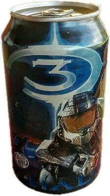Halo 3 Mountain Dew Game Fuel Limited Edition New & Unopened But Drained