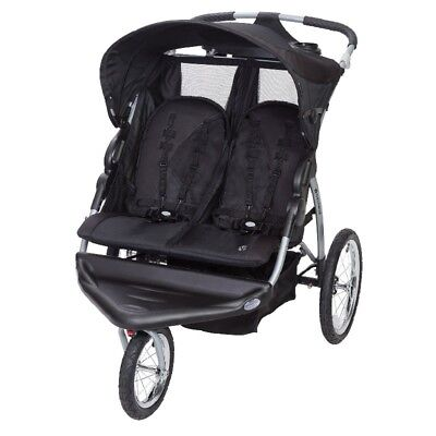 Stroller Baby Trend Expedition EX Double Jogger baby black two seat 10T-01006412