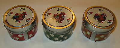 Retired Longaberger 3 Piece Kitchen Candle Set 71267 NIB Pear Citrus Sage Tomtoe