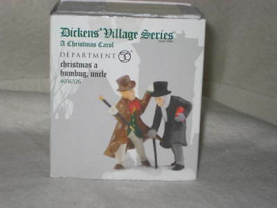 """Dept 56 Dickens Village Accessory """"CHRISTMAS A HUMBUG, UNCLE"""" #4036526  """"NEW"""""""