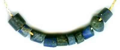 Ancient Armenian Lapis Lazuli Bead Necklace 3000BC Assyrian Empire Gem of Heaven
