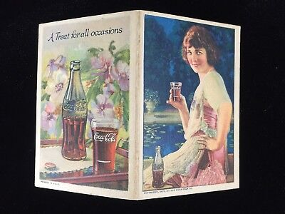 1924 COCA-COLA Advertisement Queens Needle Case Paper Packet Booklet NOS