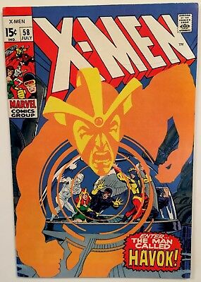 HIGH GRADE Marvel Comics X-MEN #58 JULY 1969 THE MAN CALLED HAVOK SILVER Age