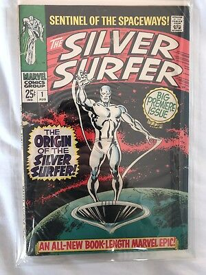 Silver Surfer #1 VG+ First stand alone silver surfer comic
