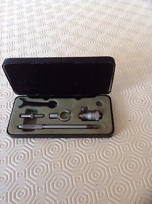 """Vintage Moore And Wright 1""""-2"""" Bore Micrometer"""