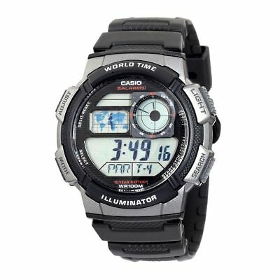 Casio AE1000W-1BVCF World Time Alarm Digital Black & Grey Sport Men's Watch
