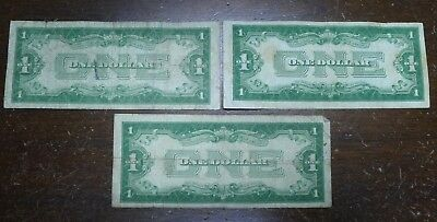 Lot of 3 1934 FUNNY BACK $1 Silver Certificates!