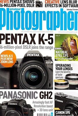 Amateur Photographer magazine with . Canon Powershot  S95 tested , 2nd Oct  2010