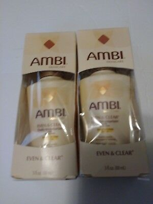 TWO PACK Ambi SkinCare Even & Clear Daily Moisturizer SPF 30 6/18 DENTED BOX