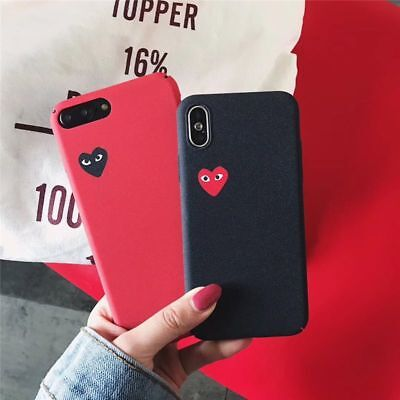 Comme Des Garcons iPhone Case Couple Matte Hard Cover CDG Love X 6 6S 7 8 XS Max