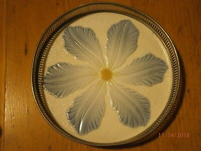 "vintage tray, plant pot stand?, key tray?cup or mug stand ? tea pot stand? 6""Dia"