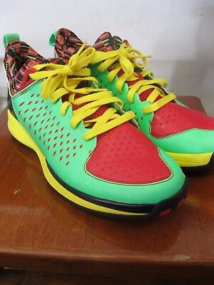 newest 3ff52 af64d Adidas D Rose 3.0 Low sz 11 Green Zest Light Scarlet Vivid Yellow G66425