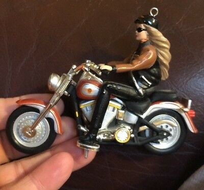 2001 Harley Davidson Barbie Hallmark Ornament Motorcycle Hog