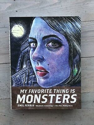 My Favorite Thing Is Monsters Graphic Novel Comic Emil Ferris Fantagraphics Used