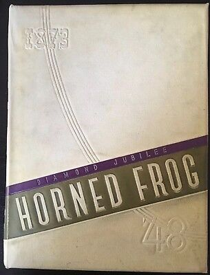 Vintage Texas Christian University Horned Frog 1948 Yearbook