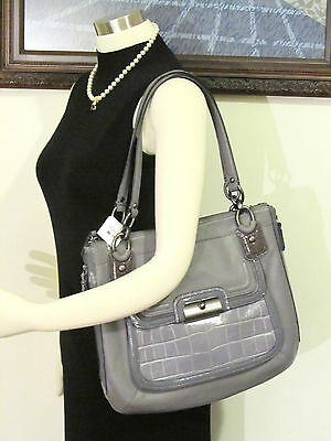 NWT Coach 18303  Kristin Spectator Leather North South Zip Tote Bag MSRP $458
