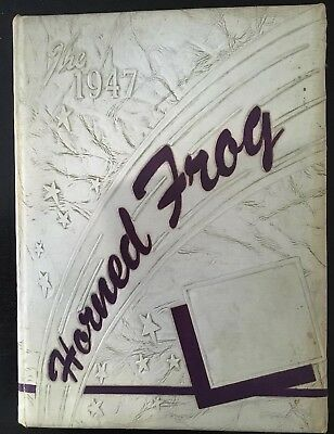 Vintage Texas Christian University Horned Frog 1947 Yearbook