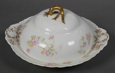 Haviland France Schleiger 31a Covered Butter Cheese Dish Limoges 3 Pieces