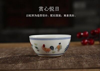 chinese Jingdezhen porcelain rooster cup chicken cup tea cup
