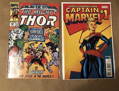 Captain Marvel 1 (2012) And The Mighty Thor 446 With Starforce