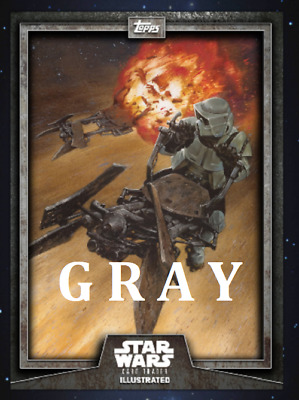 Topps Star Wars Card Trader Illustrated Cti S6 Wave 2 Scout Trooper Gray