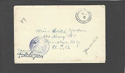 1919 Censored Soldiers Mail-Aef Apo 710-To Brooklyn,,ny