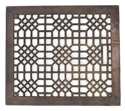 "Antique Vintage Cast Iron Ornate Steampunk Air Heat Grate Register Vent 16""x14"""