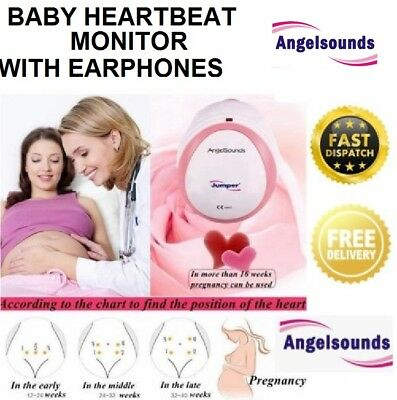 AngelSounds Baby Fetal Doppler Portable Heart Beat Monitor Heartbeat Detector