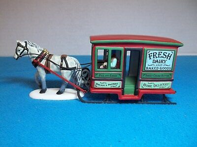 "Dept 56 ""Dairy Delivery Sleigh"" New England Village Series # 56622 Ex. Condition"