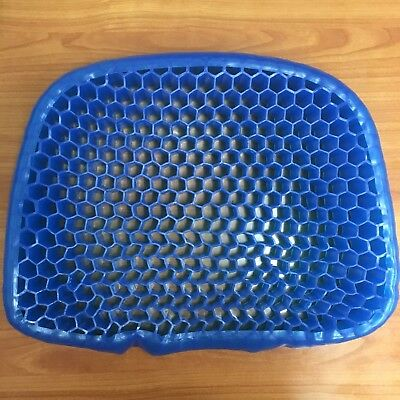 Blue Seat Cushion Gel Breathable Honeycomb Design Pressure Point Sitter
