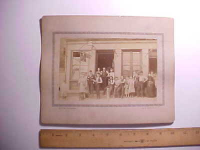 1892 Cabinet Photo Melzer Cincinnati Saloon W/ Beer Sign And Group Posing Vg+
