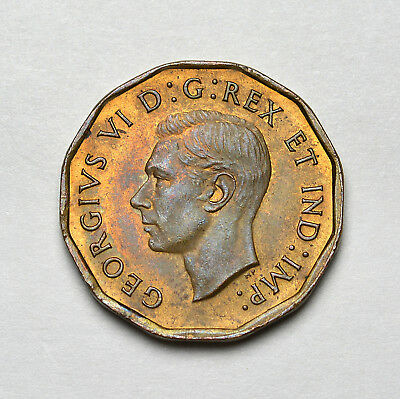 1942 CANADA KGVI Tombac 5 Cents - High Grade