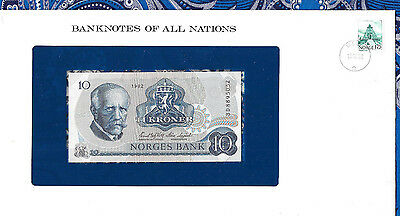 Banknotes of All Nations Norway 10 Kroner 1982 P 36c UNC Prefix BD