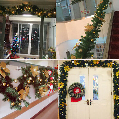 9ft Christmas Garland String Fairy Lights Fireplace Tree Decoration 40 Led