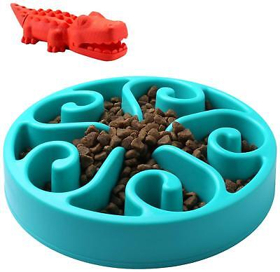 Slow Feed Dog Bowl, Dog Chew Toy, Fun Feeder Slow Bowl, Bloat Stop Dog Puzzle