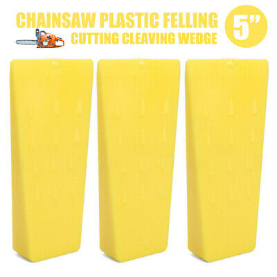 New Cleaving Inch Plastic Wedge Chainsaw Felling Cutting Yellow Durable Tree