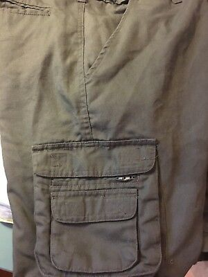BOY SCOUTS OF AMERICA BSA Official Cargo Uniform Shorts Youth Sz 18 Cotton Blend