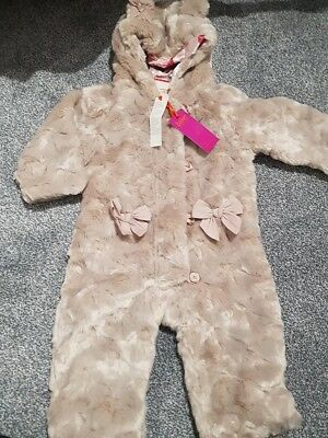 697c890da TED BAKER BABY Girls 12-18 Months Winter All-in-one Fur Snowsuit ...