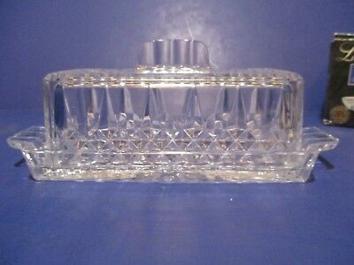 Cristal d'Arques Durand Longchamp Crystal Butter Dish With Box - Kitchenware