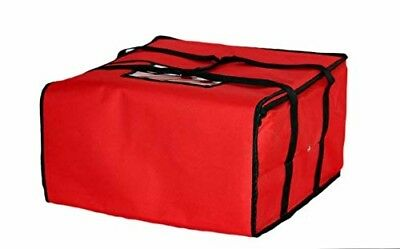 """Insulated Hot Pizza Food Delivery Bag 20"""" X 20"""" X 12"""" for Five 16"""" Pizza Boxes"""