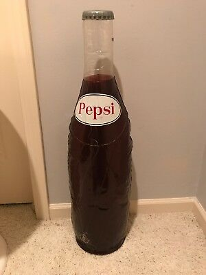 Vintage PEPSI COLA Advertisement Inflatable Bottle Sign