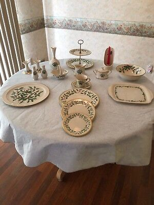 Lenox Holly Christmas China Set Service For 9 - Plus Many Additional Items