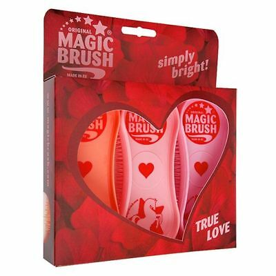 ORIGINAL MAGIC BRUSH - Set of 3 - True Love - Horse / Dog Grooming Brushes