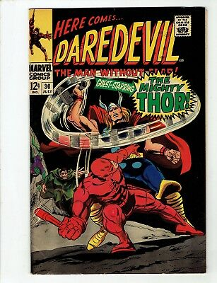 Daredevil #30 (Jul 1967) Thor. Stan Lee creations. No Reserve/ Free Shipping!