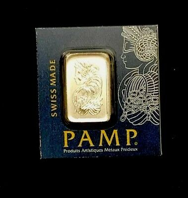 PAMP SUISSE PLATINUM 1 GRAM BAR MULTIGRAM .9995 FINE (IN ASSAY) Veriscan