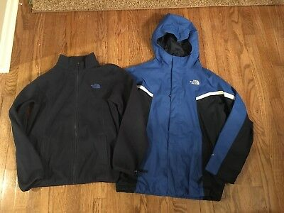 The North Face 3-in-1 Hyvent Tri-Climate Lined Winter Jacket Coat Boys L 14-16