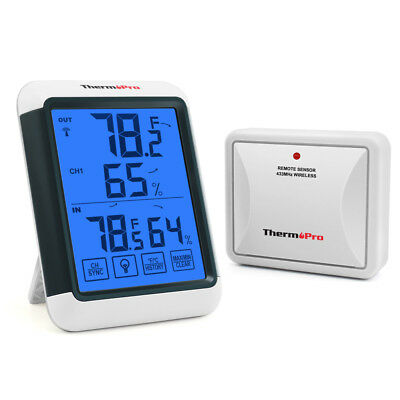 ThermoPro Wireless Indoor Outdoor Thermometer Hygrometer Digital Humidity Meter