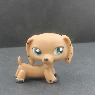 Littlest Pet Shop Collection LPS Brown Dachshund Puggy Dog Figure Toys