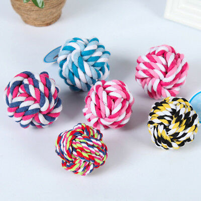 Pet Dog Toy Rope Chew Ball Toys Bite Ball Squeak Toys Dog Ball Toys Puppy Toys @