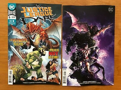 Justice League Dark 5 2018 Main Cvr + Clayton Crain Variant DC Comics NM+ 11/21
